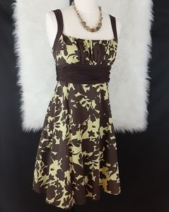 B Darlin Green & Brown Dress Size 11/12
